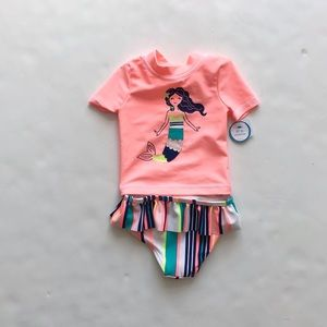 Carters NWT mermaid 2 pcs swimsuit 6 months